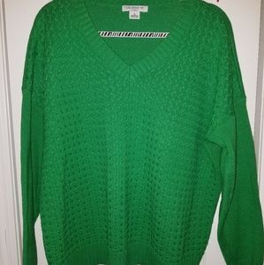 Xl oversized woven Liz Claiborne sweater green